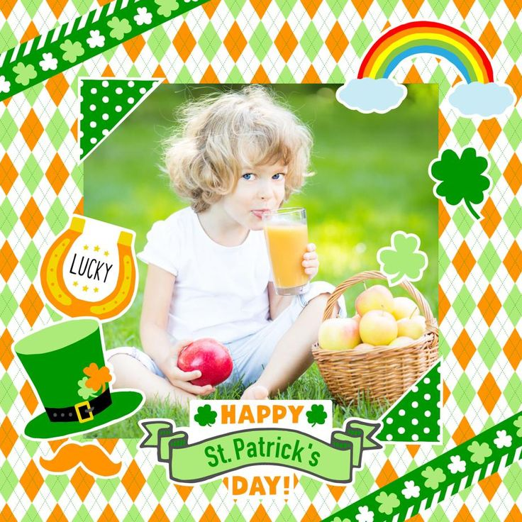 簡単無料ダウンロード✨3月17日の セントパトリックデー はグリーンの物を身につけて楽しく盛り上がれる日(*´∨`*) スクラップキット➡️https://goo.gl/dM99Go で記念の写真を飾ろう!贈ろう!スクエアサイズ・L版サイズ・KGサイズ選べます #StPatrick #緑 #セントパトリックデー #グリーン #アルバム #スクラップブック #フォトフレーム #ハンドメイド