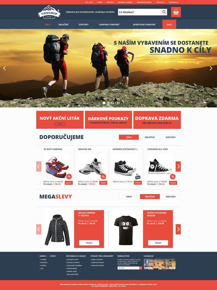Webdesign pro THMshop.cz