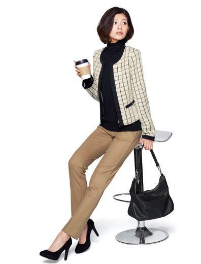 ウールジャージーストレートパンツ 通勤スタイル特集 特集 | 女性ファッション通販サイトFABIA(ファビア)