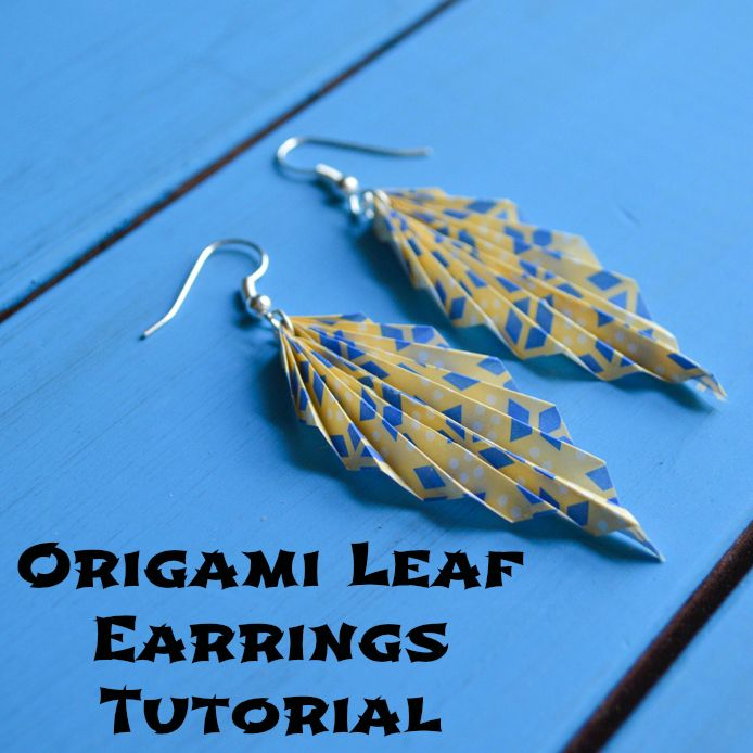 Origami Paper Leaf Earring Tutorial - Homemade Gift Ideas 1