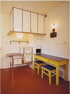 Kitchen of the Villa Muller (1930) by Austrian architect Adolf Loos.