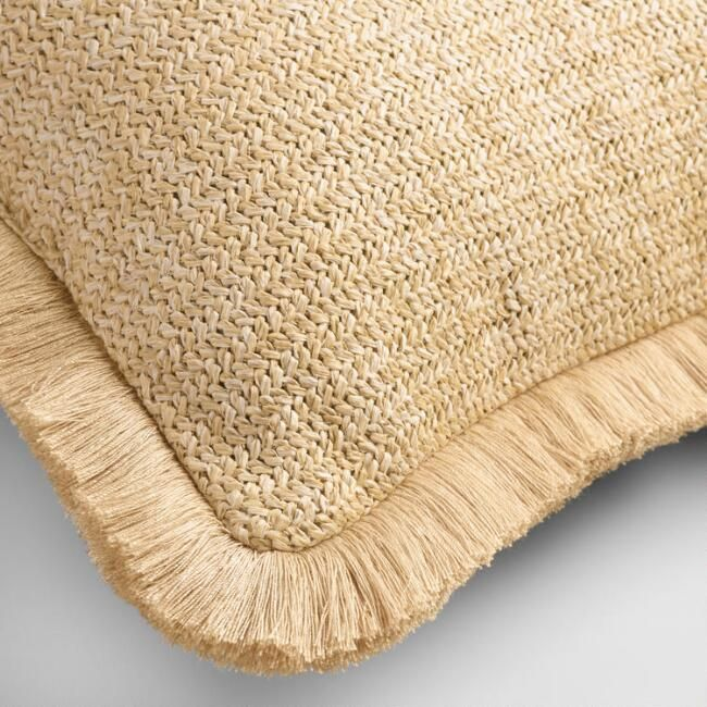 Fringed Hermosa Outdoor Throw Pillow - v2