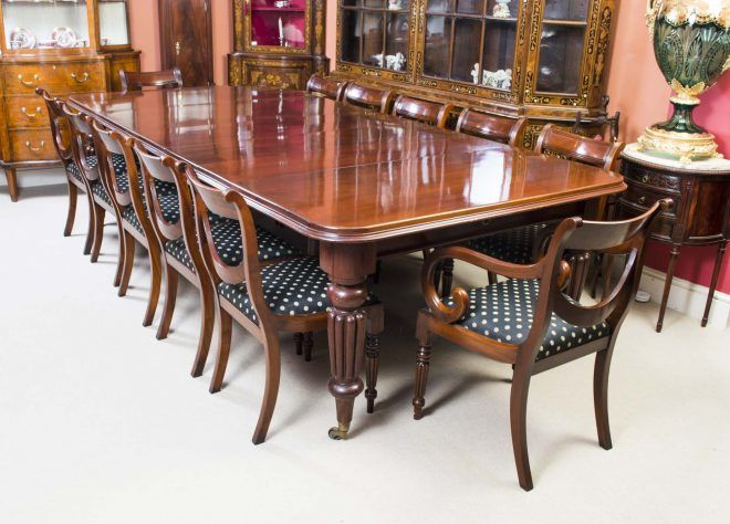 Antique Victorian Dining Table C1850 12, Antique Dining Room Sets