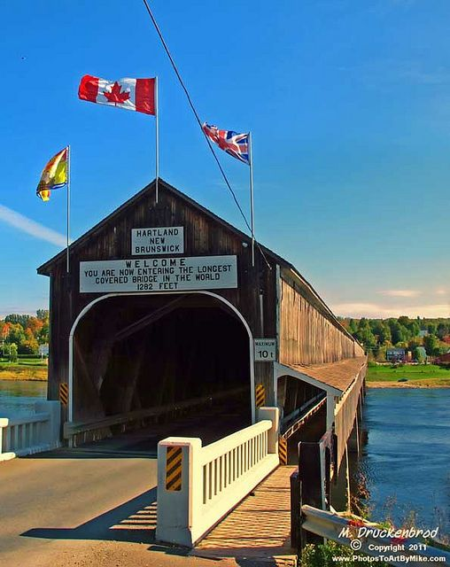 Worlds longest Covered Bridge - Hartland, New Brunswick, Canada