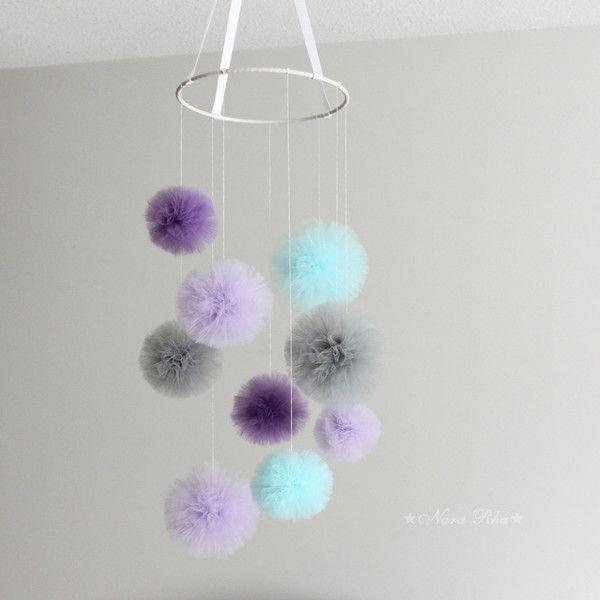 Pom Pom Color : 2 x Grey, 2 x Aqua , 2 x Grape , 3 x Lavender
