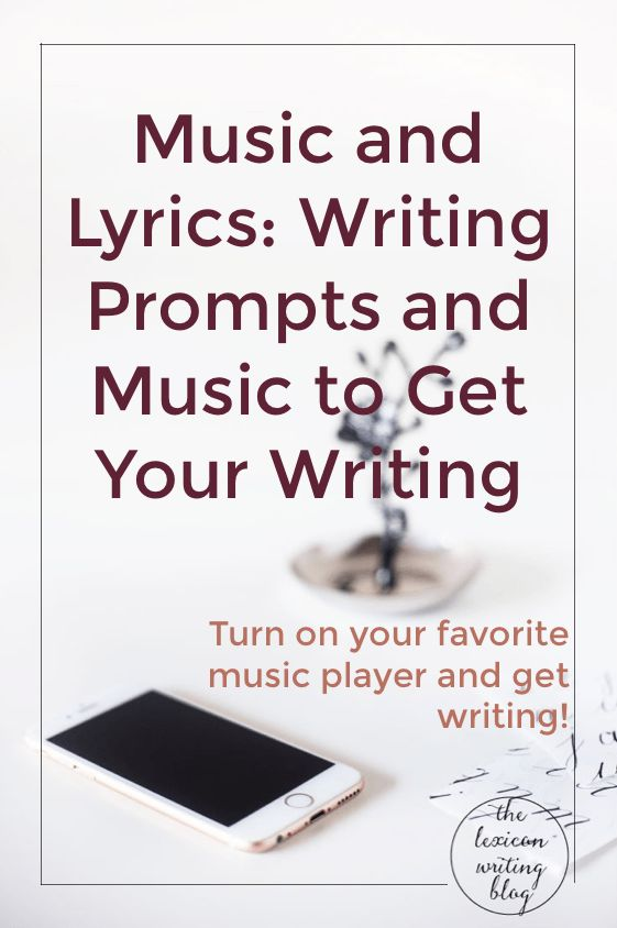 Use music to get writing! Writing prompts and music!
