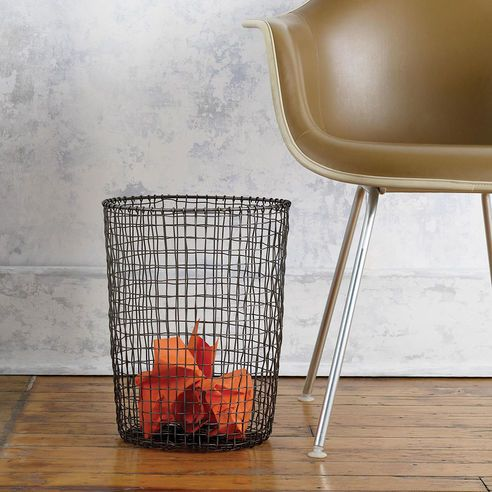 Design Ideas   Cabo Hand Woven Wire Waste Paper Bin   homeArama Ltd