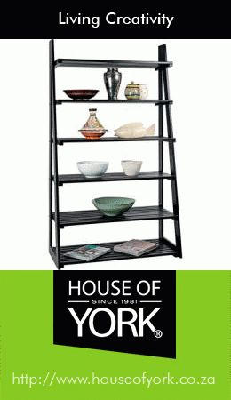 House of York's a-frame racking comes in various colours and woods and has 6 shelves - a perfect addition to any lounge.#HouseofYork