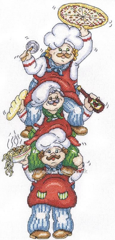Buy Pizza Delivery Cross Stitch Kit Online at www.sewandso.co.uk