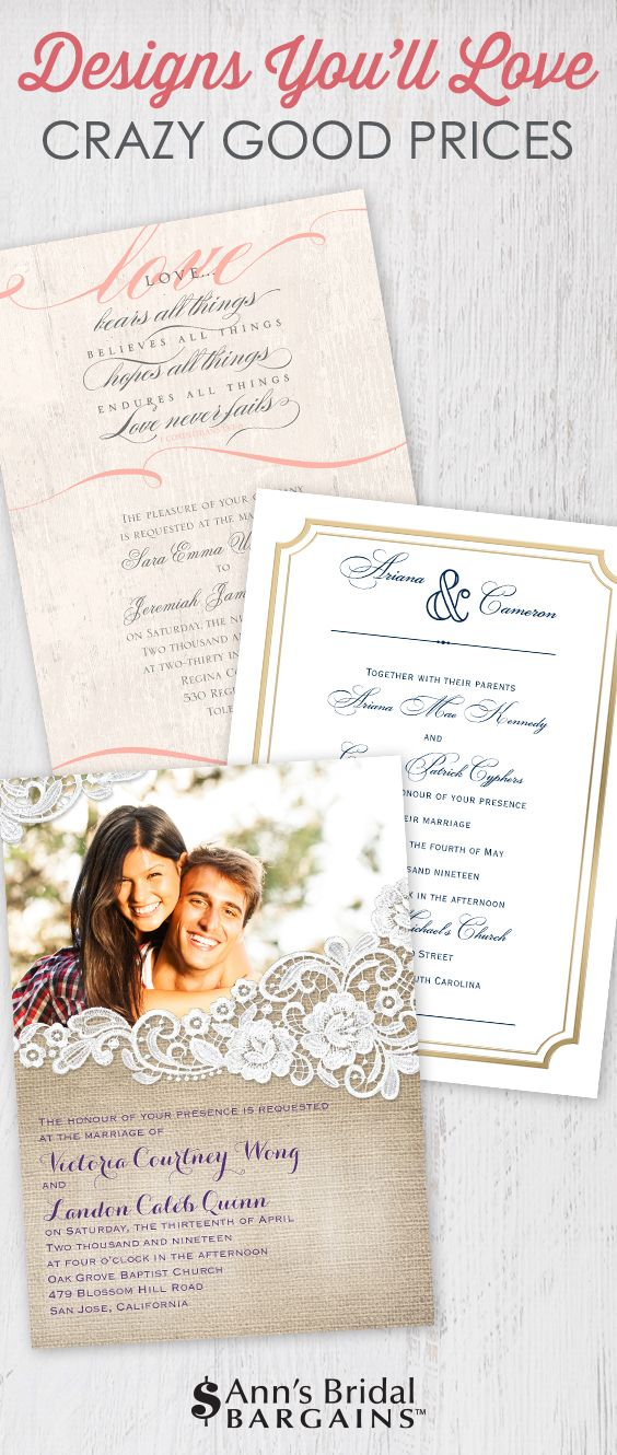 165 best Affordable Wedding Invitations images on Pinterest