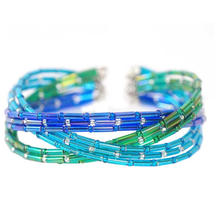 Easy to make Memory wire bugle bracelet project from Beads Unlimited