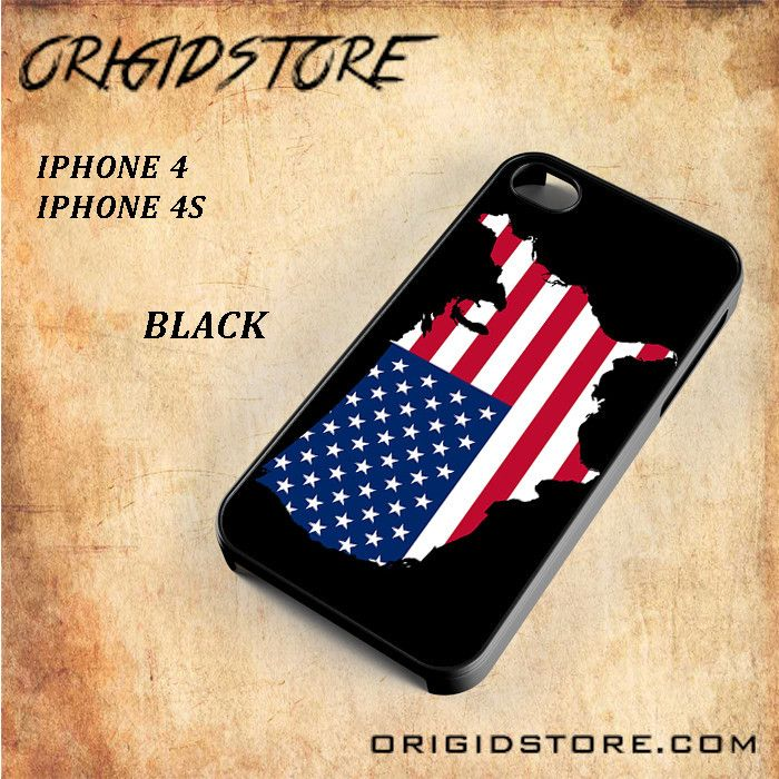 American Flag case for Al Snap On Black White 3D For Iphone 4/4S case