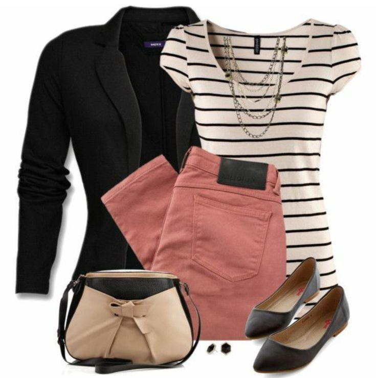Ich habe mich vor kurzem in die Mauve-Farbe verliebt und ich liebe den Farbton dieser Hose sowie die Art und Weise, wie der Rest dieses Outfits sich daran bindet. Ich würde diesen Look gerne rocken, um zu arbeiten!