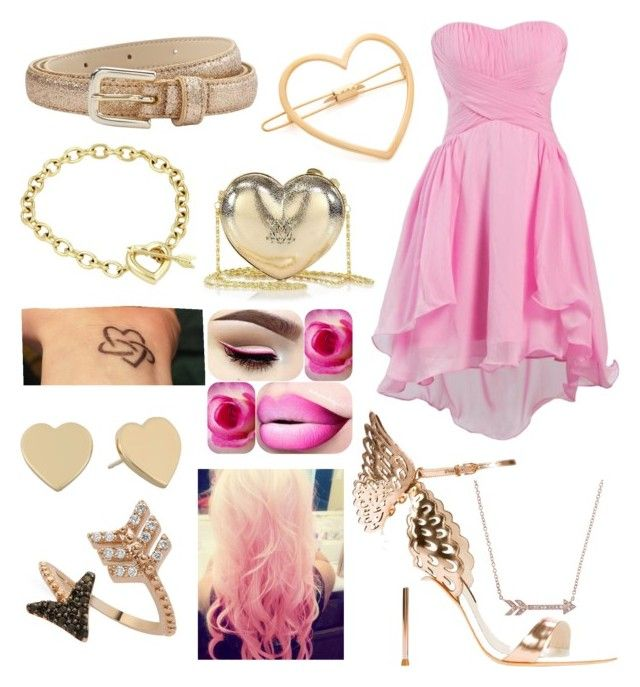 """cupid"" by valen247 on Polyvore featuring Sophia Webster, Des Petits Hauts, Tiffany & Co., Mrs. President & Co., Love Moschino, Cotton Candy, Kate Spade and Bee Goddess"