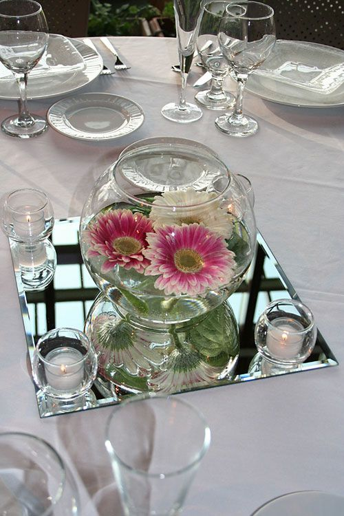 Please please please people....stop using a mirror tile for your centerpiece.  No matter what you think...its not cute.