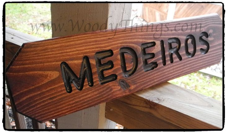 A personal favorite from my Etsy shop https://www.etsy.com/listing/216927148/personalized-wooden-lawn-sign