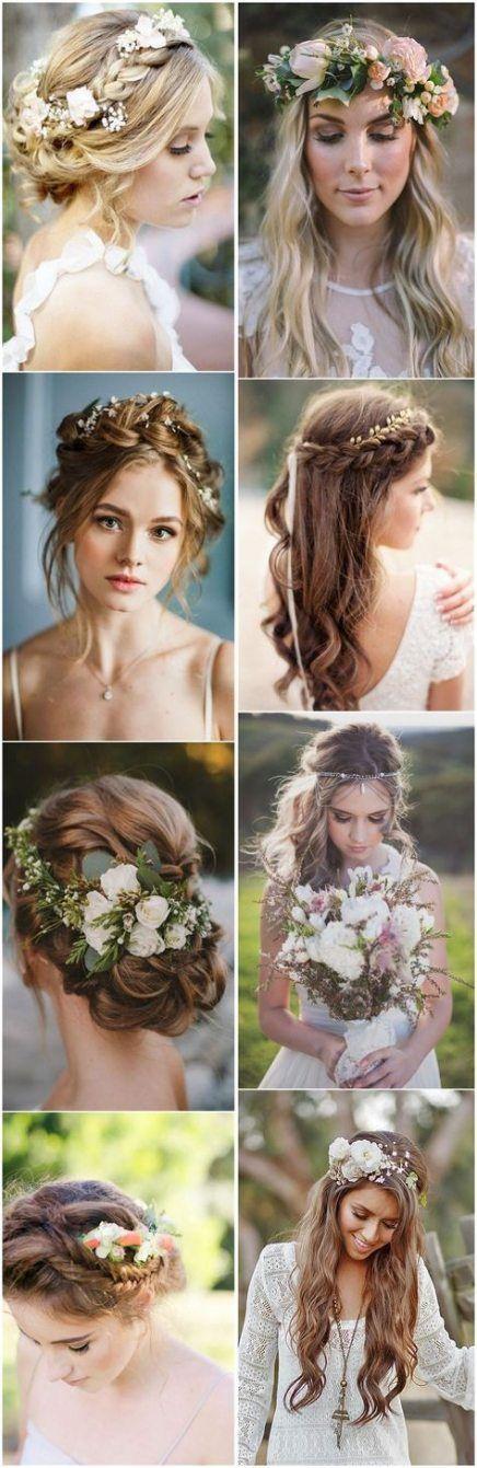 Böhmische Hochzeitsmake-upideen der modischen Brautfrisuren – •bridal•