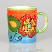 mug, handmade, handpainted, ceramic, artesanía, alfarería, taza, cerámica, pintada a mano