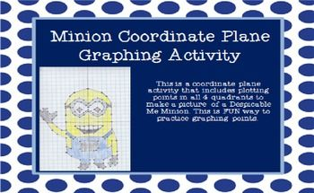 This is a coordinate plane activity that includes plotting points in ...