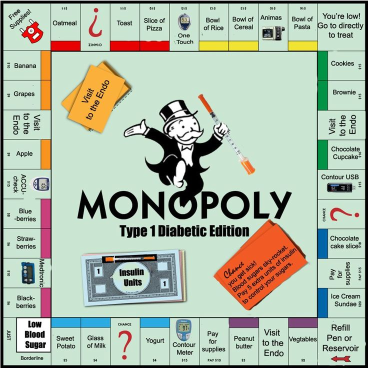 Diabetes Monopoly Edition. (I want one!)