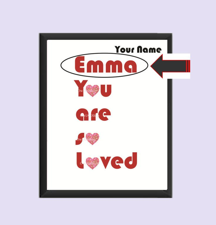 Personalized You are so loved print, Name print with retro heart, Valentine's day card, kids wallart decor nursery room decor, digital print by OwlArtShop on Etsy