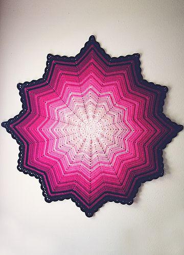 #Crochet+Pink+ripple+baby+blanket+via+goodknits Free Pattern