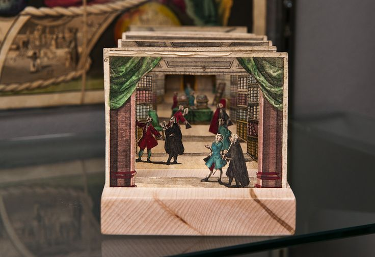 Paper poetry: The colorful world of vintage pop-up, A Tunnel book from about 1730 with hand-colored intaglio illustrations