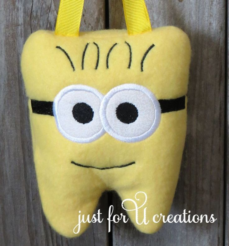 Boy s Girl s Tooth Fairy Pillow Minion Yellow