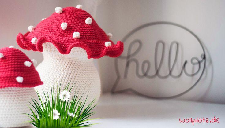 Nun ist die beste Zeit sein Haus mit herbstlicher Dekoration zu füllen. Wollplatz lädt Sie mit der gratis Anleitung zum Pilze häkeln ein.