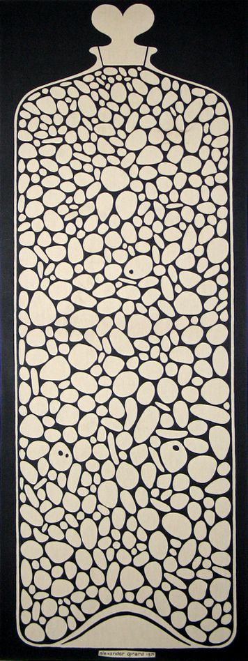 "Alexander Girard, Jar of Pebbles, ""Environmental Enrichment Panel"" for Herman Miller's Action Office 2, 1971."