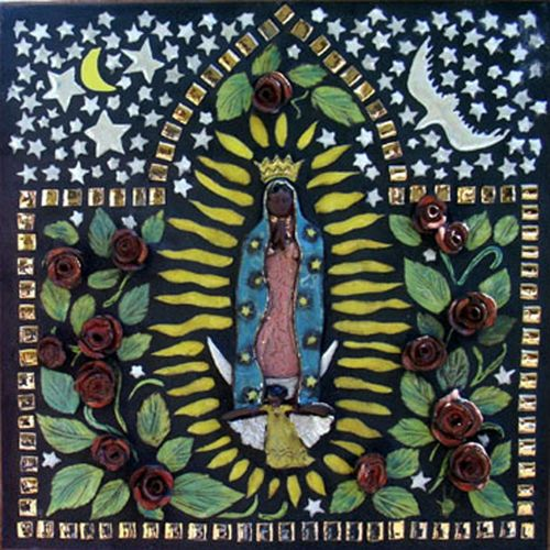 163 best mary and me images on pinterest mexican folk for Custom mosaic tile mural