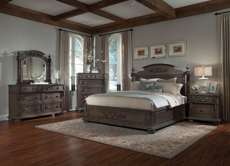 The Versailles Bedroom Collection Has Ornate Carved Accents Through Out The  Bed, Dresser And Mirror. Fleur Accents Flow Through Each Piece, Combining  To ...