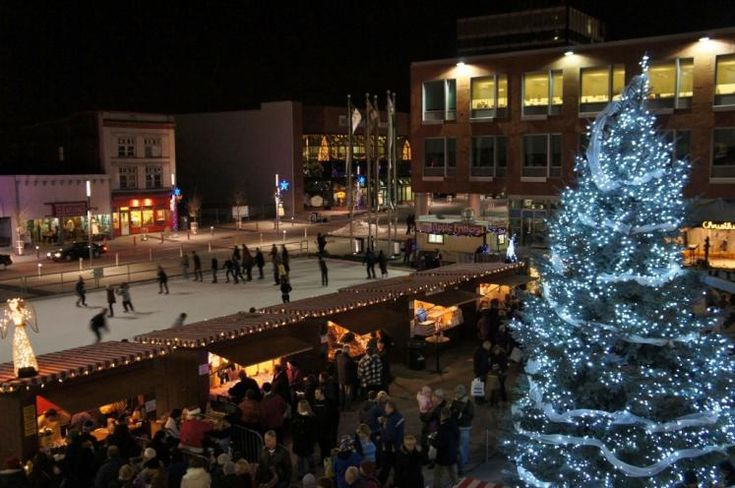 Kitchener City Hall Square during Chris Kringle Festival