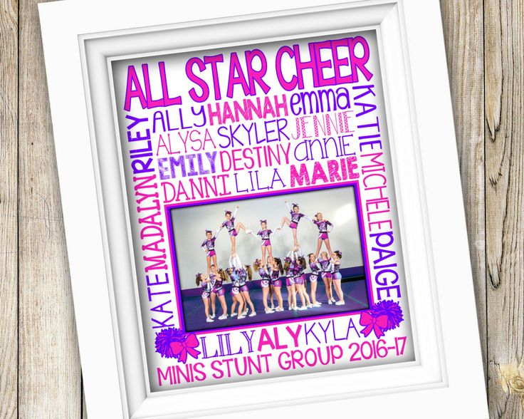 Custom Cheer Gift ~ Personalized Cheerleading Team Photo Cheer Subway Art ~  PRINTABLE Cheer Gifts DIGITAL Cheer Squad Gift Cheer Banquet by SubwayStyle on Etsy