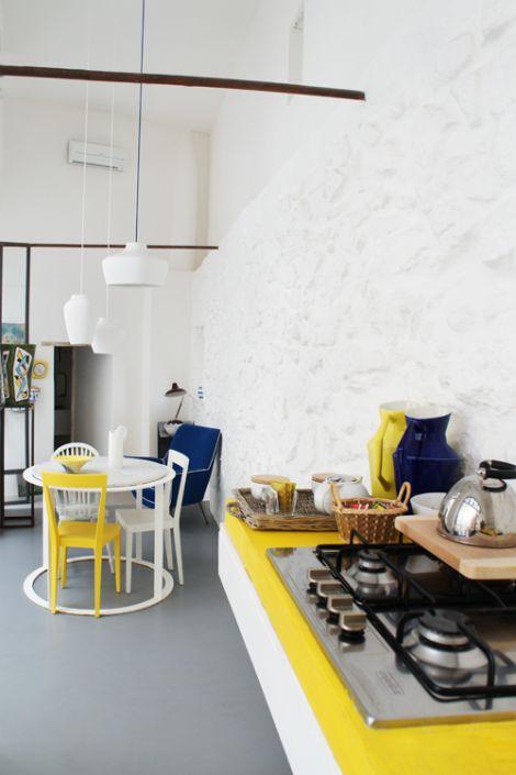 The kitchen at Capri Suite in Anna Capri, photo by Annette&Christian