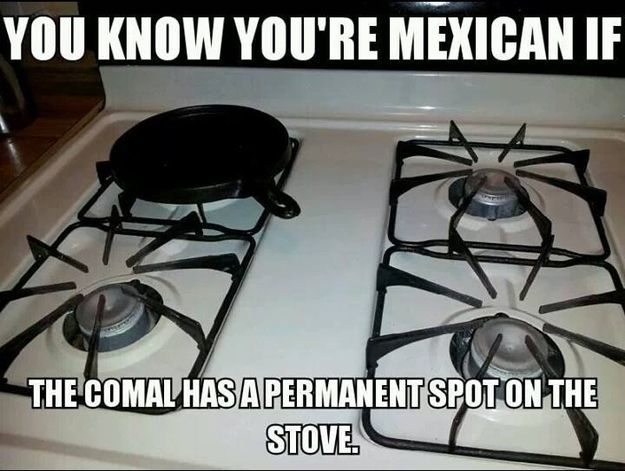 Because you know the RIGHT way to heat a tortilla is on a comal. | Community Post: 53 Signs You Grew Up Eating Mexican Food