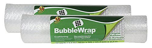 Duck Brand Bubble Wrap Original Protective Packaging AXMAH 2Pack 16 in. x 9 ft.