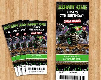 Monster Jam Grave Digger Ticket!
