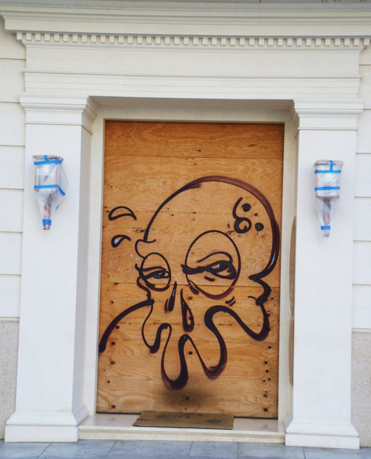 Athens Boarded up Door
