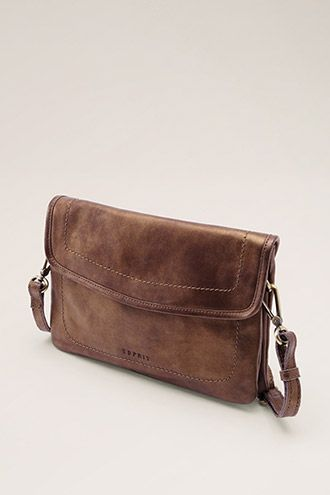 Esprit / leather bag with a metallic finish