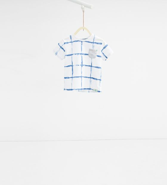Image 2 of Check T-shirt from Zara