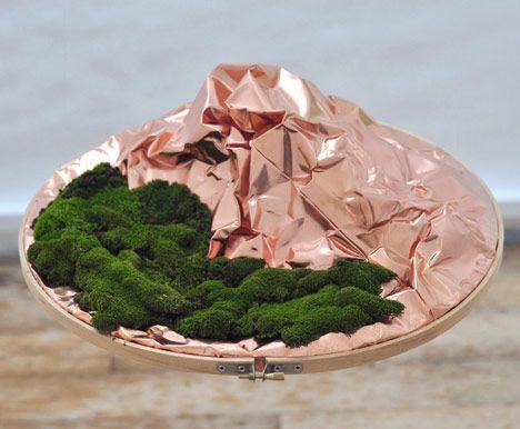 Laputa by Outofstock - via http://bit.ly/epinnerLaputa, Outofstock, Copper Islands, Hands Sculpting Copper, Crushes Copper