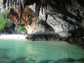 Phra Nang cave at Railay beach, Krabi, Thailand. More info about Railay Beach - here - http://www.thaipulse.com/beaches/railay-beach-krabi/railay-beach-krabi-province-thailand/