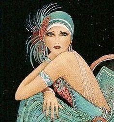 Flapper fashion illustration 1920s