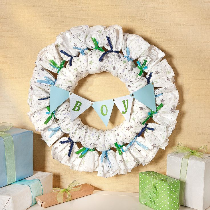 Baby Shower Wreath Instructions: 25+ Best Ideas About Diaper Wreath On Pinterest