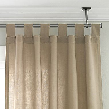 Ceiling Mount Curtain Rod For Awkward Dining Room Corner