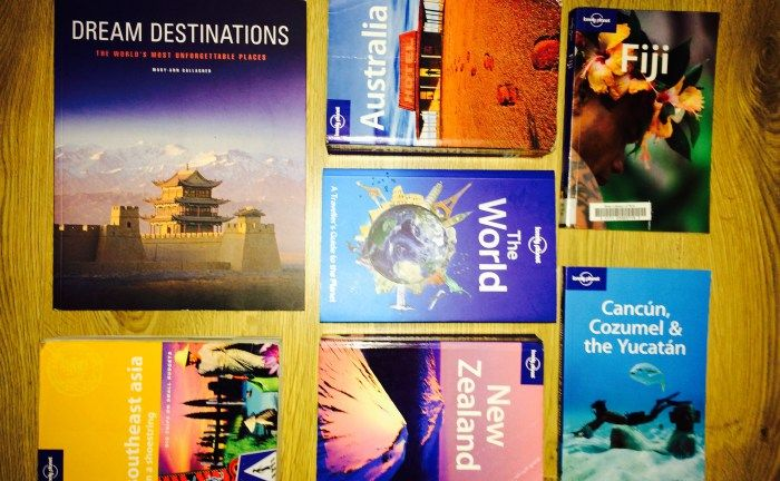 A selection of travel books