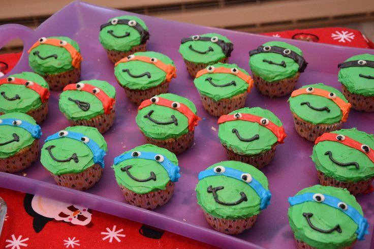 Ninja Turtle Cupcakes Decorating Tutorial