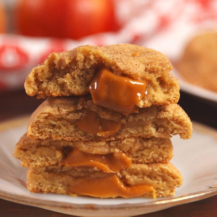 Karamell gefüllte Apple Snickerdoodles