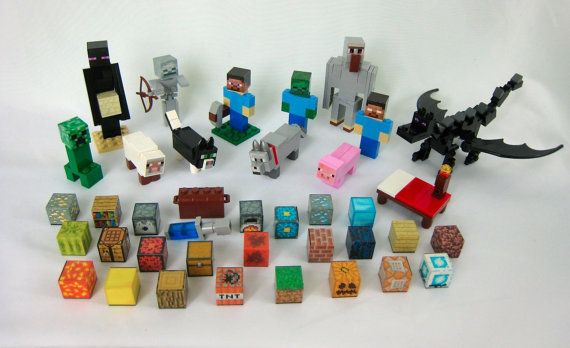Items similar to Lego Minecraft Custom Deluxe Set - Steve, Enderman, Creeper, Animals, Blocks and More on Etsy
